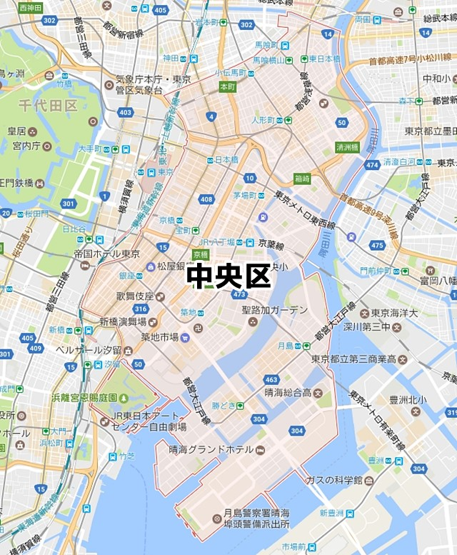 中央区MAP